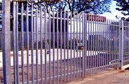 Galvanized Palisade Gates